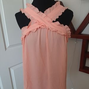 Peach flowy top